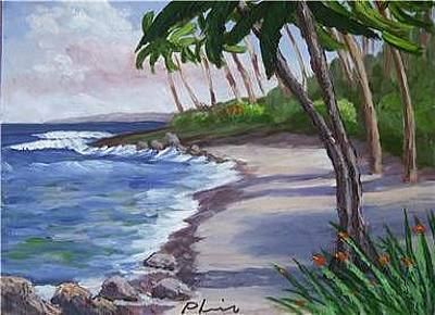 Surf The Rincon Painting - Western Beach by Bob Phillips