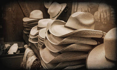 Photograph - Western Cowboy Hats by Judy Vincent