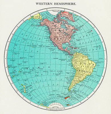 Drawing - Western Hemisphere by Unknown