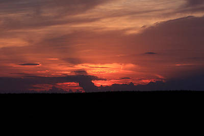 western Illinois Sunset Art Print by Dave Clark