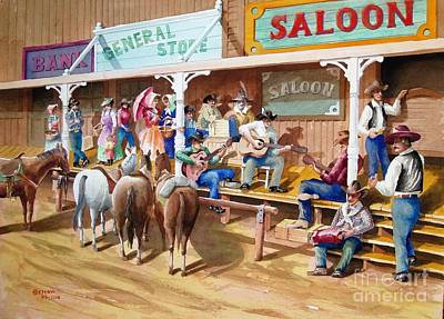Painting - Western Jam Session by Charles Hetenyi