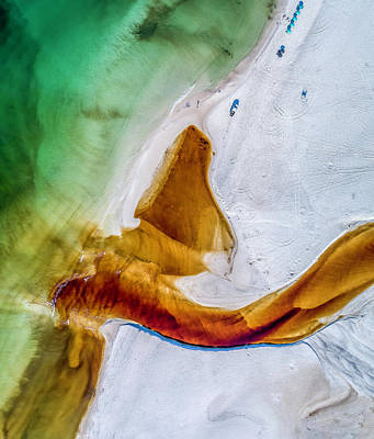 Photograph - Western Lake Outfall Aerial by Kurt Lischka