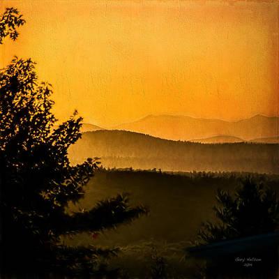 Maine Mountains Digital Art - Western Maine Mountain Sunset by Gary Nelson
