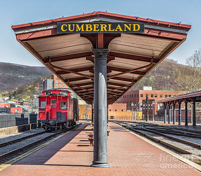 Western Maryland Railway Station Print by Jerry Fornarotto