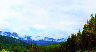 Digital Art - Western Misty Mountains by Susan Vineyard