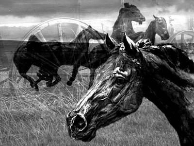Western Montage Art Print