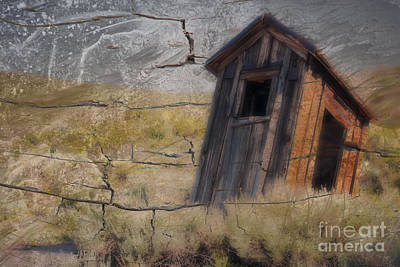 Western Outhouse Art Print by Ronald Hoggard