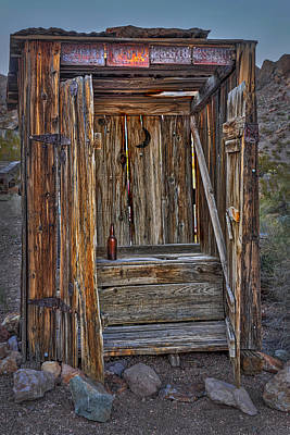 Photograph - Western Outhouse by Susan Candelario