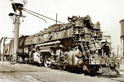 Photograph - Western Pacific Western Pacific Railroad's 2-8-8-2 Articulated F by California Views Mr Pat Hathaway Archives