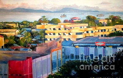 Painting - Western Part Of Sorong Town by Jason Sentuf