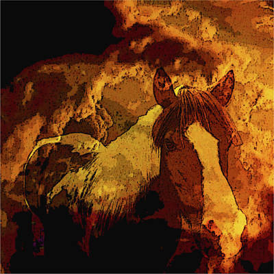 Mixed Media - Western Prominence-the Wild Side by Mike Breau