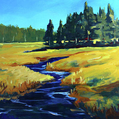 Painting - Western River by Nancy Merkle
