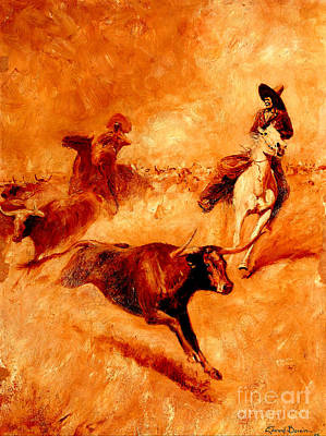 Painting - Western Scene 1905 by Peter Gumaer Ogden Collection