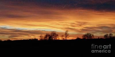 Photograph - Western Sky December 2015 by J L Zarek