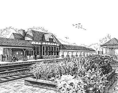 Western Springs Train Station Original by Mary Palmer