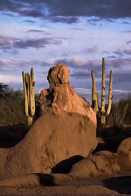 Scottsdale Digital Art - Western Sunset by David Kehrli