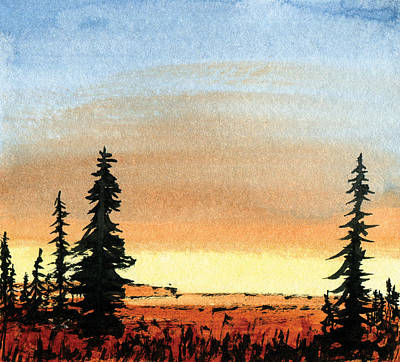 Mixed Media - Western Sunset by R Kyllo