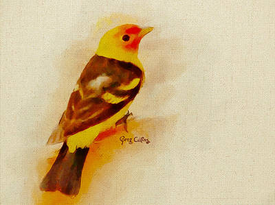 Painting - Western Tanager by Greg Collins