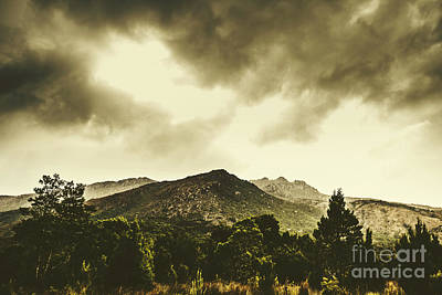 Mountain Royalty-Free and Rights-Managed Images - Western Tasmania mountain ranges by Jorgo Photography - Wall Art Gallery