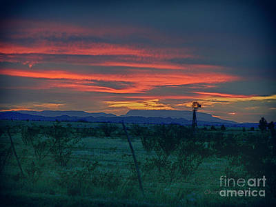 Photograph - Western Texas Sunset by Charles McKelroy