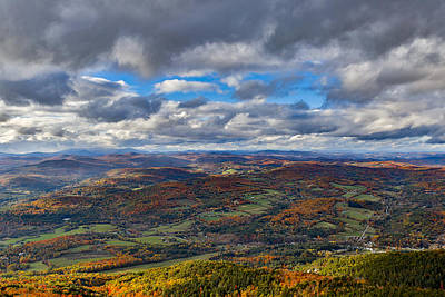Western View From Mt Ascutney Art Print