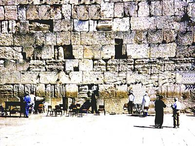 Photograph - Western Wall - Israel by Merton Allen