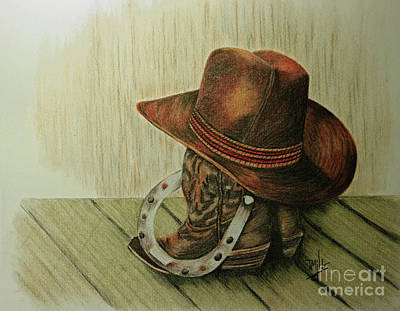 Drawing - Western Wares by Terri Mills