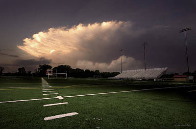Coach Party Photograph - Westerville North Warrior Stadium by Brian Gustafson