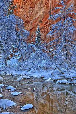 Photograph - Westfork In Winter by Tom Kelly