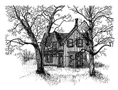 Drawing - Westhill House 1 by Ron Haist