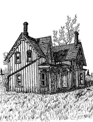 Drawing - Westhill House 2 by Ron Haist