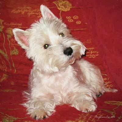 Westie Digital Art - West Highland White Terrier 1 by Charmaine Zoe