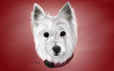 Westie Art Print by Autumn Bradley