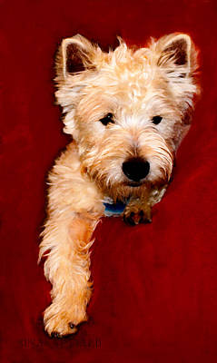 Terrier Digital Art - Westie Boy by Susan Vineyard