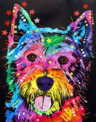 Terriers Painting - Westie by Dean Russo