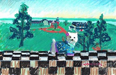 Painting - Westie From The Barn by Candace Lovely