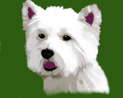 Painting - Westie Illustrated by Deborah Boyd