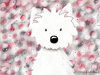 Kiniart Digital Art - Westie Impressions II by Kim Niles