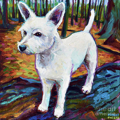 Painting - Westie In The Woods by Robert Phelps