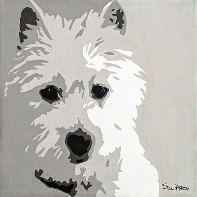 Pop Art Wall Art - Painting - Westie by Slade Roberts