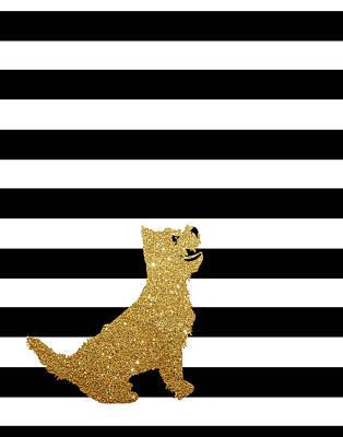 Westie Digital Art - Westie Terrier Dog by Indira Albert
