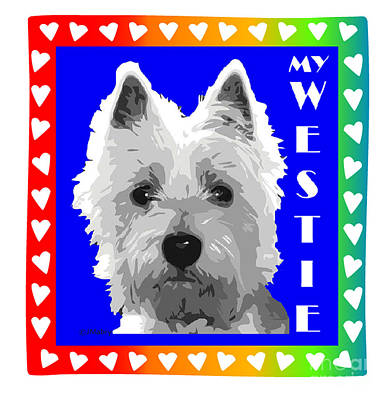 Westie Tshirt Art Print