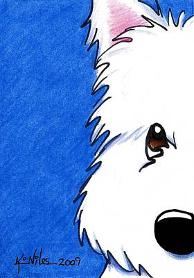 Westie Terrier Painting - Westie Up Close by Kim Niles