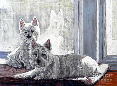 The Shins Pastel - Westies by Cat Culpepper