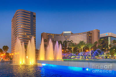 Photograph - Westin Hotel Arts Center Pool 4 by David Zanzinger