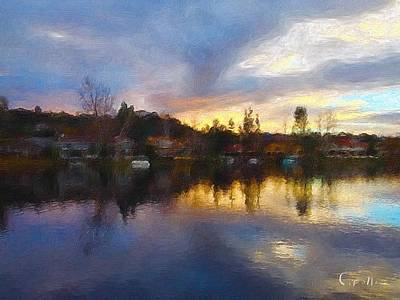 Digital Art - Westlake California  by Jan Cipolla