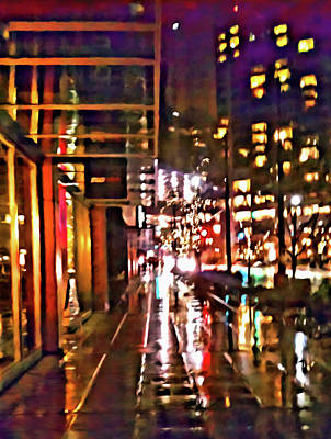 Digital Art - Westlake Rain by Paisley O'Farrell