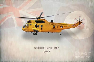 Searching Digital Art - Westland Sea King Har3 Xz592 by J Biggadike