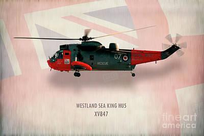 Searching Digital Art - Westland Sea King Hu5 Xv847 by J Biggadike