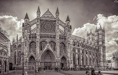 Bath Time - Westminster Abbey panorama monochrome by Mariusz Talarek
